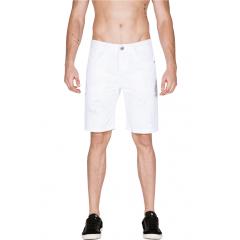 Bermuda Jeans Branca com Puidos M. Officer