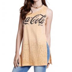 Blusa Coca-Cola Alongada em Devorê