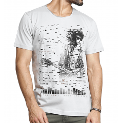 """Camiseta """"Beyond Barriers"""" Cinza Claro & Preta Coca-Cola"""
