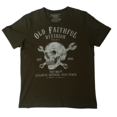 Camiseta Colcci Caveira. Verde Militar