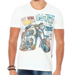 Camiseta Estampada. Off White Forum Biker Topics