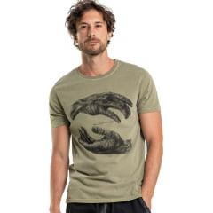 Camiseta Yin Yang Verde Militar Von Der Volke