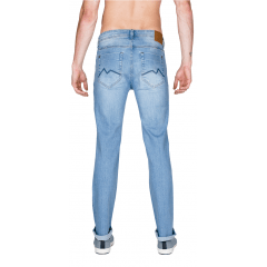 Calça Jeans Masculino M. Officer  Reta Blue Wash