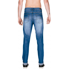Calça Jeans Masculino M. Officer Slim Blue Wash